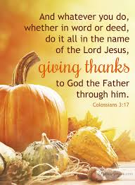 giving thanks colossians 3 17 tricia goyer
