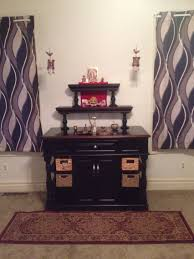 Pooja Room In Kitchen Designs by Temple Made From Assembling Kitchen Island For Base Wooden Candle