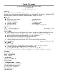 Social Worker Resumes Samples by Case Management Resume Free Federal Resume Sample From Resume