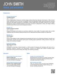 Resume Design Templates Word Resume Templates In Word 2010 Image Collections Templates Design