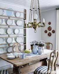 kitchen style wall mounted plates rack scandinavian kitchen