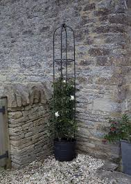 relaxdays garden trellis obelisk column growth support pointy top