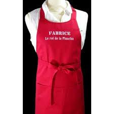 tablier de cuisine personnalisé brodé tablier de cuisine adulte personnalisé l atelier de pirouette