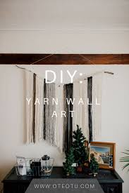 Hanging Wall Decor by Diy Yarn Wall Art Yarn Wall Art Wall Art Crafts And Wall Hangings