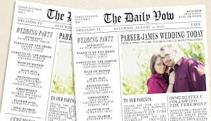 newspaper wedding programs 8 wedding traditions that incorporate the past into your future