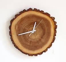 natural wood wall clock wood decor u0026 kitchen accessories