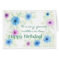 happy birthday mother in law greeting cards zazzle