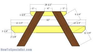 10 u0027 picnic table plans howtospecialist how to build step by