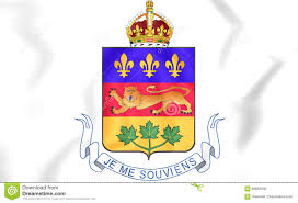 quebec coat of arms canada stock illustration image 88858336