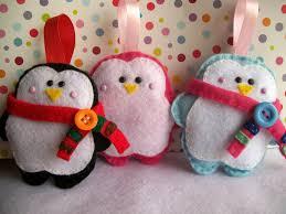 felt penguins ornaments for christmas decoration find them here
