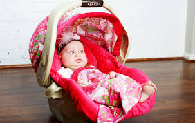 Pink Car Seat Canopy by Canopy Couture Sprinkled Whole Caboodle