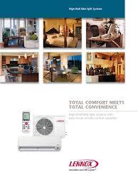 Total Comfort Control Minisplit Lennox Lxg Ahtcxxx130p4 Lxg Sctxxx130p4 Hvac Heat Pump