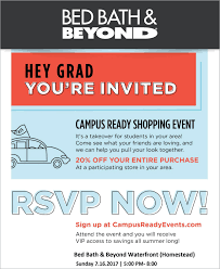 Bed Bath Beyond Hours Of Operation Campus Ready Shopping Event 20 Off The Waterfront