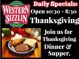 thanksgiving dinner at western sizzlin monticello live