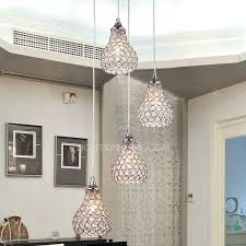 Pendant Light In Bathroom 4 Light Octagon Bead Bathroom Pendant Lights