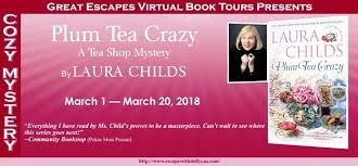 plum tea crazy a tea shop mystery by laura childs escape with