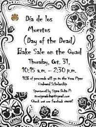 today is the día de los muertos bake sale