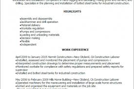Construction Laborer Resume Examples And Samples by Iron Worker Resume Examples Reentrycorps
