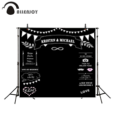 wedding backdrop to buy aliexpress buy allenjoy wedding backdrops styles blackboard