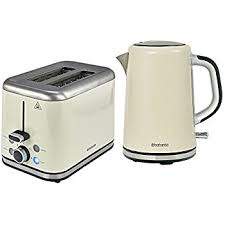 Kettle Toaster Sets Uk Brabantia Bqpk07 Breakfast Kettle And 2 Slice Toaster Set Almond