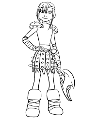 train dragon coloring pages astrid coloringstar