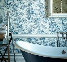 Toile Bathroom Wallpaper by Toile English Wallpaper Google Search Humble Abode