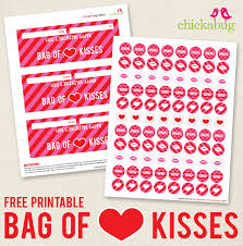 printable stickers valentines free printable bag of kisses for valentine s day chickabug