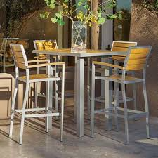 metal bar height table wonderful outdoor bistro table bar height patio tables deck in set