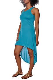 aqua sleeveless summer dress high low stretch slim fit muscle racerback