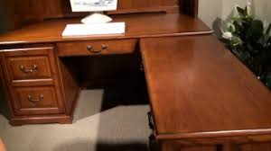 L Shaped Computer Desk With Hutch Seville Square L Shaped Computer Desk With Hutch By Riverside