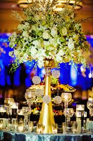 gold and white beautiful wedding centerpiece b lovely events