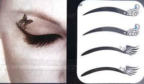 custom temporary makeup eye floral rhinestone eyelids liner