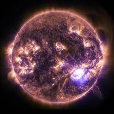 lights on the sun imagery of a solar flare nasa