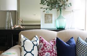 living room pillow how to choose pillow pattern combinations life on virginia street