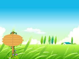village summer landscape ppt backgrounds blue brown design