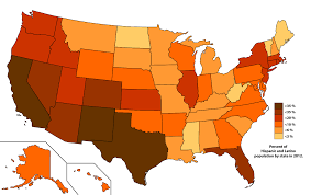 Usa Map By State by List Of U S States By Hispanic And Latino Population Wikipedia