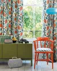 Green And Blue Curtains Orange Blue And Green Qindow Curtains And Room Furniture Home