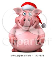 christmas pig royalty free rf christmas pig clipart illustrations vector