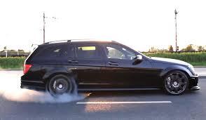 mercedes amg c63 wagon venom 24 does smoky burnouts in a black on black c63 amg wagon