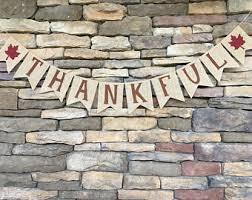 thankful burlap banner thanksgiving banner banner