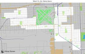 map of building projects properties and businesses in 13th ward