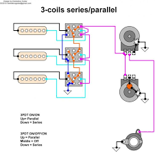 3 pickups each with a parallel off series switch