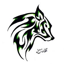 tribal wolf and moon tattoos here tribal wolf