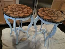 dumpster find stain painted shabby chic side tables hometalk