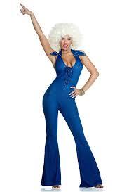 blue jumpsuit costume forplay womens disco blue denim jumpsuit costume upscalestripper com