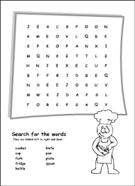 kitchen vocabulary for kids learning english printable resources