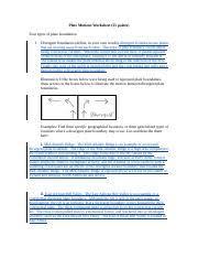 glg103 lab 06 plate tectonics worksheet plate motions worksheet