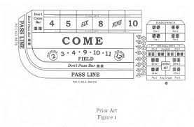 Craps Table Odds Patent Us20120274022 Exotic Craps Bet And A Novel Place Bet