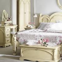 Bedroom Vintage Bedroom Design Using White Vanity Designed With
