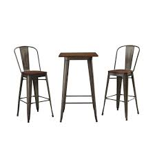 Hampton Bay Corranade 5 Piece - walker edison furniture company cafe olive and brown 3 piece metal